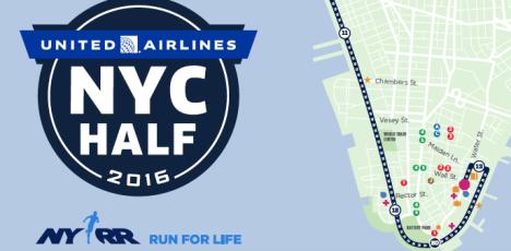NYC Half map