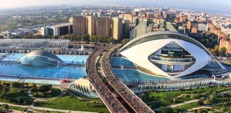 Valencia Marathon oversikt målområdet II
